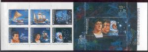 MARSHALL ISLANDS 424a MNH VOYAGES OF DISCOVERY BOOKLET PANE OF 7