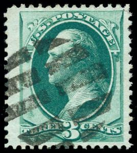 momen: US Stamps #136 Used Red Cancel VF Jumbo