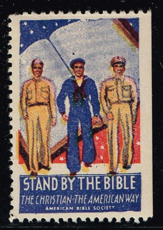 US STAMP CHRISTIAN LABEL STAMP STAND BY THE BIBLE