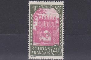FRENCH COLONIES SUDAN  1931  40C  CARMINE & GREEN       MH