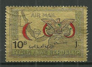 1968 Yemen C33L  10b Red Crescent Organization used