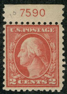 US #425 F/VF mint hinged, PLATE NUMBER SINGLE,  a super stamp, FRESH COLOR!