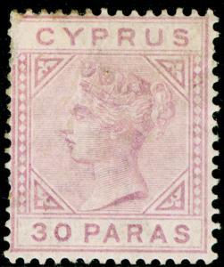 CYPRUS SG17, 30pa pale mauve, M MINT. Cat £75. WMK CA DIE I