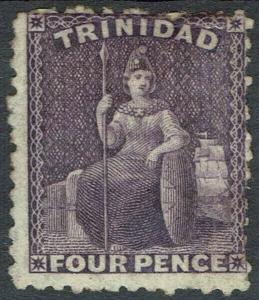 TRINIDAD 1863 BRITANNIA 4D WMK CROWN CC PERF 12.5