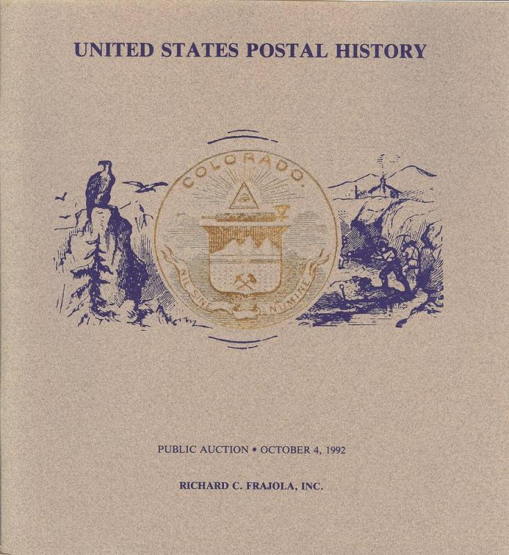 Frajola: Sale # 50  -  United States Postal History - Col...