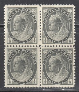 Canada #74 Mint XF NH BLOCK OF 4 -- $240.00 -- Perfect Centering