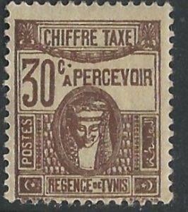 Tunisia # J18 postage Due  30c    (1)  Unused