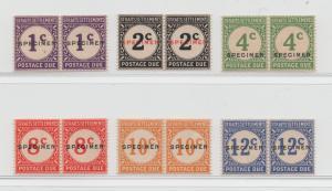 Malaya Straits Settlements - 1924 - SG D1s-D6s - MNH
