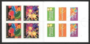 SINGAPORE SGSB42 2001 GREETINGS BOOKLET OCCASIONS MNH