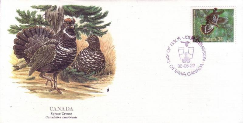 Canada FDC SC# 1098a Spruce Grouse L122