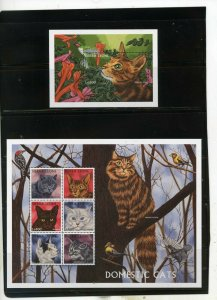 SIERRA LEONE 1997 FAUNA/CATS SHEET OF 6 STAMPS & S/S MNH