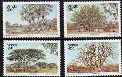 VENDA 1983 TREE STAMPS - MINT COMPLETE SET OF FOUR!