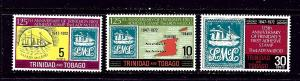 Trinidad and Tobago 216-18 MNH 1972 Anniv of first adhesive stamp