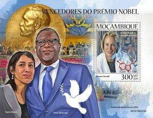 Z08 IMPERF MOZ190423b MOZAMBIQUE 2019 Nobel Prize winners MNH ** Postfrisch