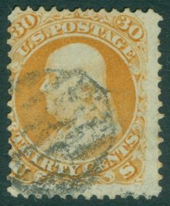 EDW1949SELL : USA 1861 Scott #71 Used. Very Fresh. Light cancel. Catalog $190.00