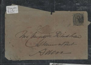 ADEN COVER (P2612B)  1861 QV 4A  ON FRAGILE COVER TO STEAMER POINT,ADEN ARR B/S