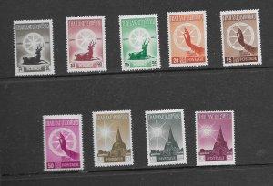 Thailand 321-29 1957 2500th Anniv Birth Buddha NH Retail $59