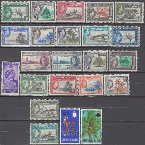 COLLECTION LOT OF #1002 GILBERT & ELLICE ISLANDS 23 STAMPS 1939+ CV+$37