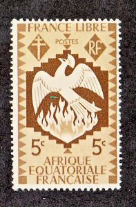 French Equitorial Africa Scott #142 MLH