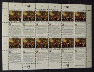 4518   UN - Geneva  MNH # 234, 235   Human Rights - Sheet   CV$ 30.00