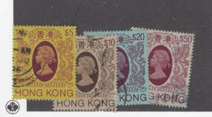 HONG KONG # 400-403 VF-LIGHT USED CAT VALUE $52+