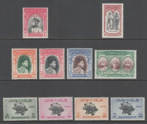 Pakistan, Bahawalpur Sc 1//29 MNH. 1947-1949 issues, 4 complete sets, VF