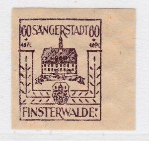 Finsterwalde WWII Germany World War II Local Stamp 1946 60+40pf MNH** A20P4F199