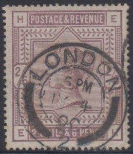 GREAT BRITAIN 1893 QV Sc 96 USED BY CHOICE LONDON 2 Cds F,VF SCV$165.00