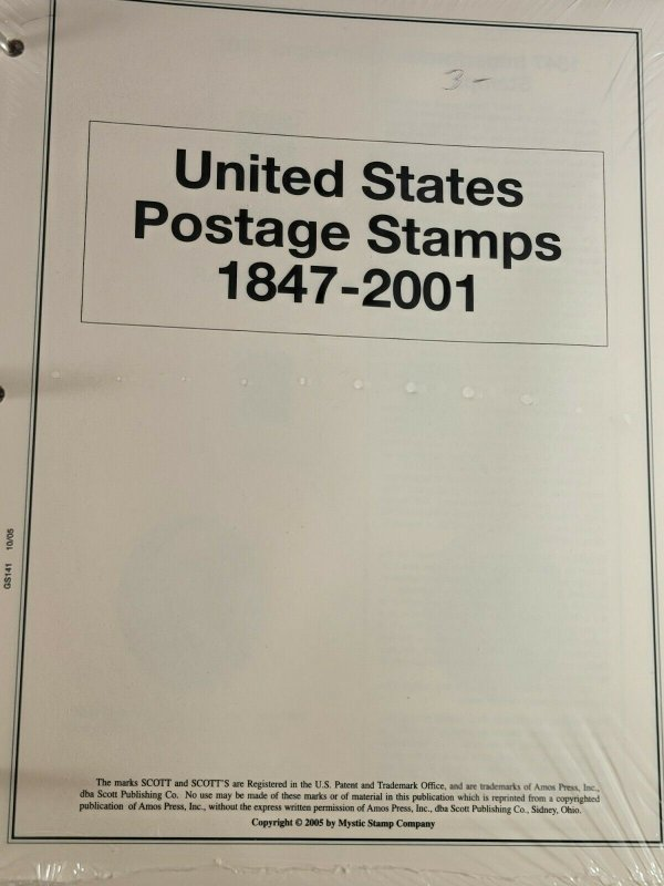 The Heritage Collection United States Postage Stamps 1847-2001 Album