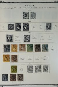 Reunion Clean 1800s to 1939 Vintage Stamp Collection