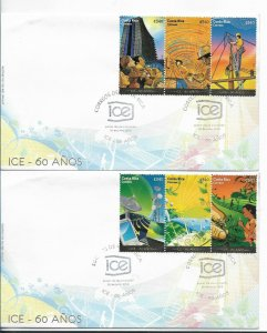 COSTA RICA 2009, ICE COMPANY, ELECTRICITY COMMUNICATIONS 6 VALUES ON FDC