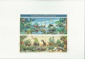 US Stamps Sheet/Postage Sct #3136 World of Dinosaurs MNH F-VF OG  FV$4.80