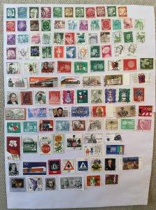 German 100+ stamps - Lot Q