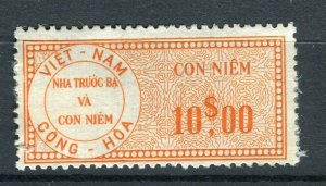 VIETNAM; Early CONG-HOA revenue issue Mint unused $10. value ( paper adhesion)