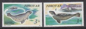Faroe Islands 239-240 Seals MNH VF