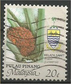 PENANG, 1986, used 20c, Agriculture Scott 93