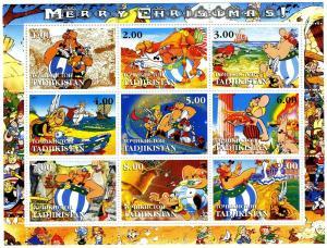 Tadjikistan 2001 Asterix Comics Sheet (9) Perforated mnh.vf