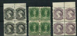 3x MNH each block, imprints x 2, Nova Scotia,  Canada mint