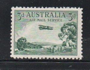 Australia Sc C1 1929 5d biplane airmail stamp mint NH