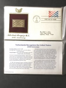 US #2003 and Gold-Plated Stamp