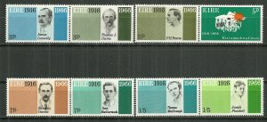 1966 Ireland 206-13 Easter Week Rebellion 50th Anniv. C/S MH pairs