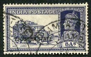 CHAMBA STATE SG92 KGVI 8a slate Fine Used (genuine postmark)