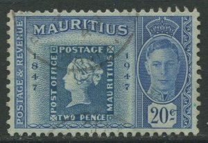 STAMP STATION PERTH Mauritius #227 KGVI Post Office Stamp Issue FU 1948