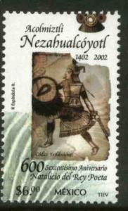 MEXICO 2303, Acolmiztli Nezahualcoyotl The Poet King. MINT, NH. F-VF.