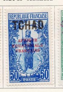 Tchad 1924-33 Early Optd Issue Fine Mint Hinged 50c. 170956
