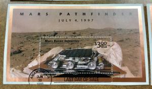 3178 $3.00 MARS ROVER SOJURNER LAST DAY CANCEL 6/20/1998 Space Stamp