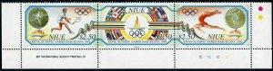 Niue 624 ac-625,MNH.Mi 793-795,Bl.120. Olympics Barceona-1992.Tennis,Gymnast,