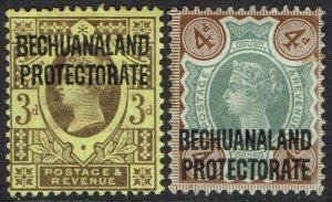 BECHUANALAND PROTECTORATE 1897 QV GB 3D AND 4D