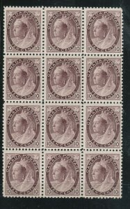 Canada #83 Mint Fine - Very Fine Never Hinged Block Of Twelve *With Certificate*