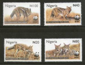 Nigeria MNH 759-62 Side-Striped Jackal Wildlife WWF 2003
